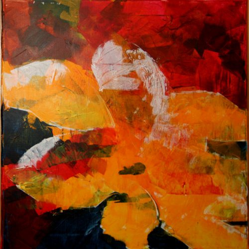 Akrylmaleri af Maja de Hemmer 40 x 40 cm: Summer Night